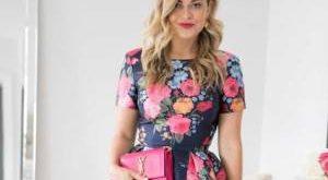 لباس مجلسی بلند و گلدار در رنگ های شاد